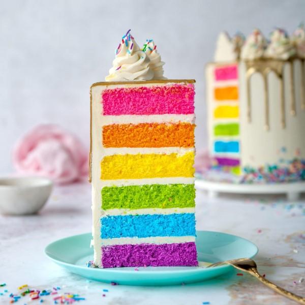 Farbenfrohe und köstliche Regenbogenkuchen Rezept Ideen regenbogen kuchen einfach selber machen