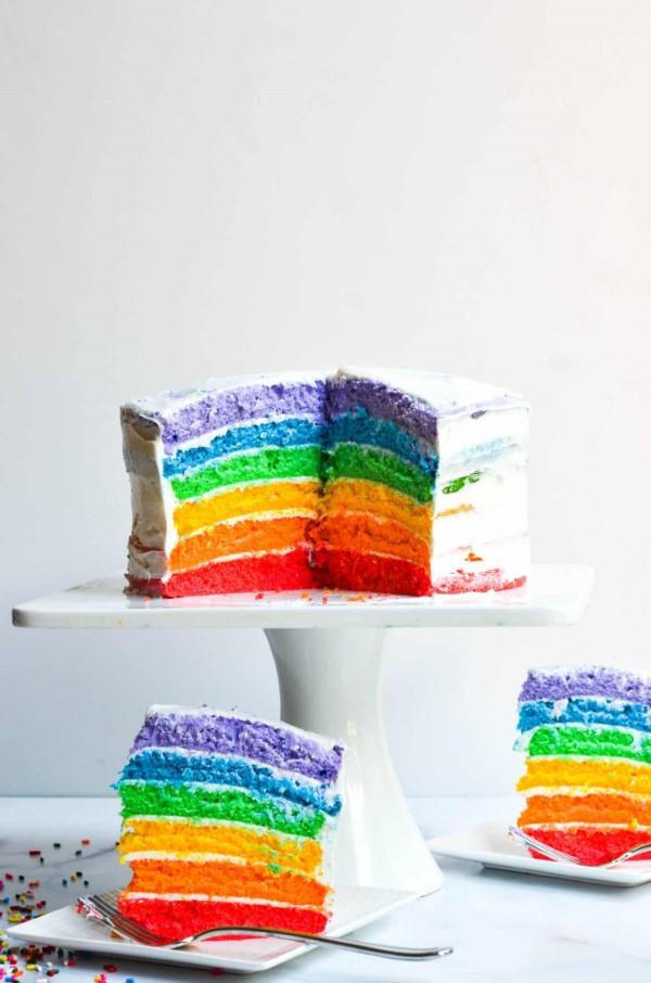Farbenfrohe und köstliche Regenbogenkuchen Rezept Ideen regenbogen torte ideen