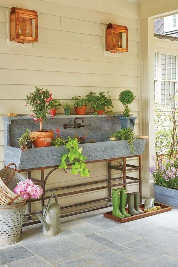 Gartenspüle Ideen Außenbereich Fotobeispiele