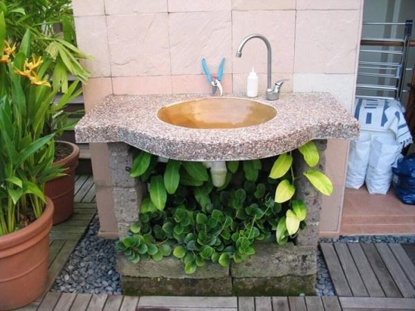 Gartenspüle Ideen Außenbereich Outdoor Küche