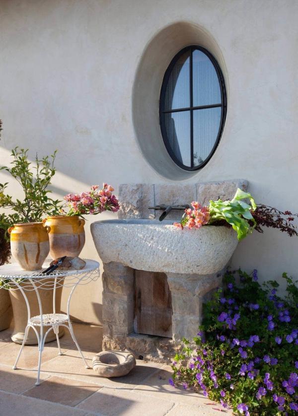 Gartenspüle Ideen Außenbereich Wascbecken