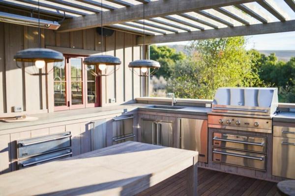 Gartenspüle Ideen Außenbereich gestalten Outdoor Möbel