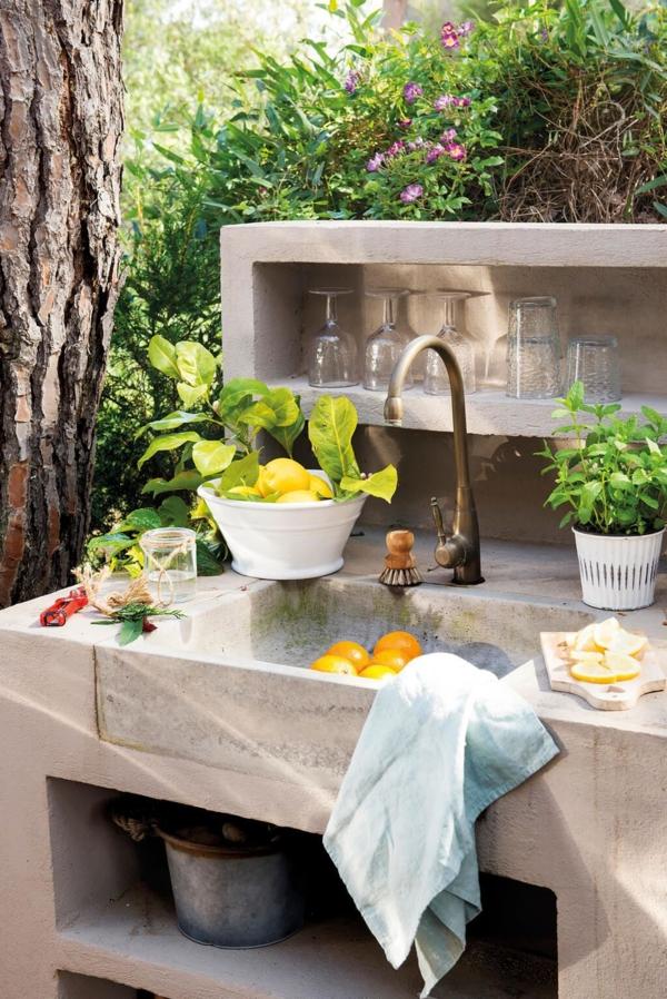 Gartenspüle Ideen Außenbereich mit Spüle gestalten