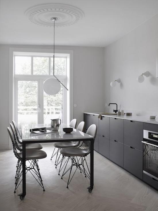 Küchenzeile individuell gestaltet prefektes modernes design minimalistisch die Höhe der Arbeitsplatte kann variieren