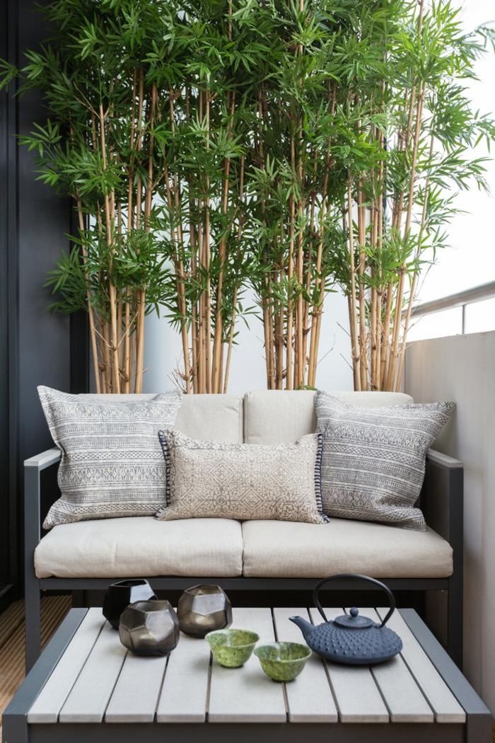 Kleiner Balkon Ideen selber machen diy ideen upcycling ideen bambus
