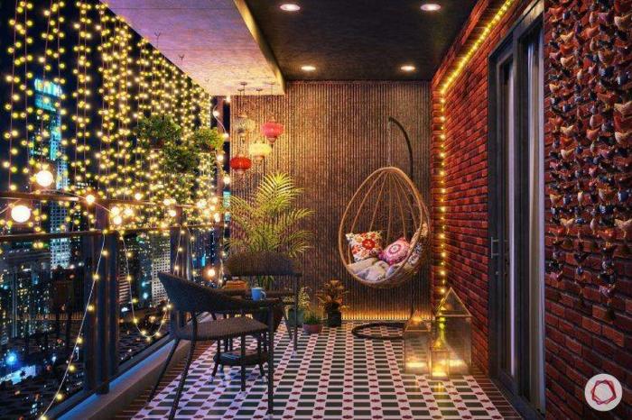 Kleiner Balkon Ideen selber machen diy ideen upcycling ideen beleuchtung balkon