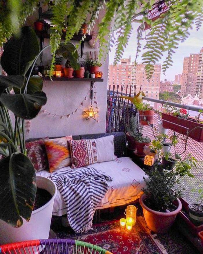 Kleiner Balkon Ideen selber machen diy ideen upcycling ideen deko ideen lichter
