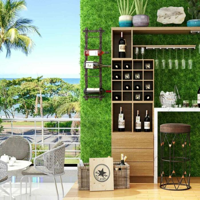Kleiner Balkon Ideen selber machen diy ideen upcycling ideen draussen