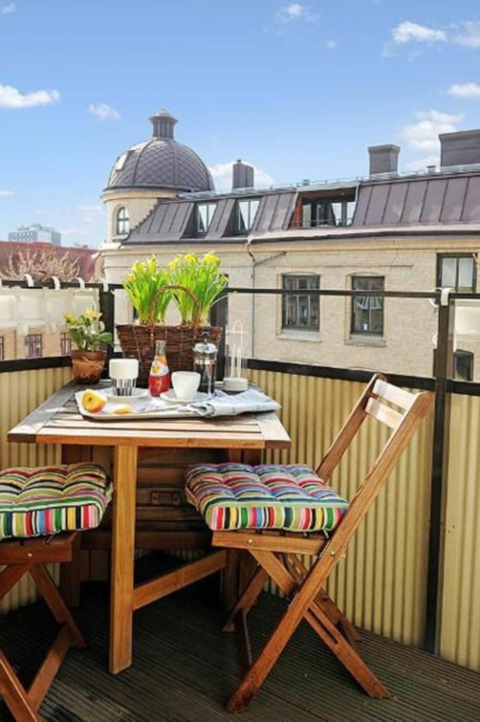 Kleiner Balkon Ideen selber machen diy ideen upcycling ideen farbgestaltung dach