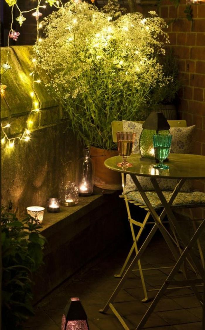 Kleiner Balkon Ideen selber machen diy ideen upcycling ideen farbgestaltung lichtgestaltung
