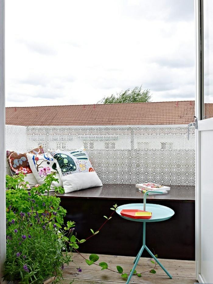 Kleiner Balkon Ideen selber machen diy ideen upcycling ideen farbgestaltung lichtgestaltung marroko
