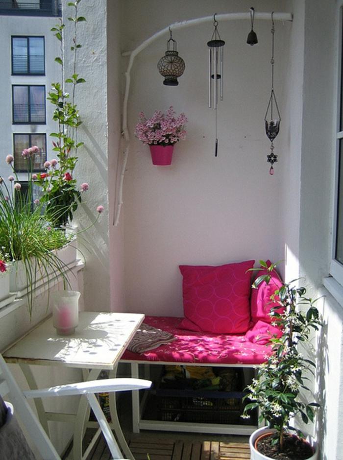Kleiner Balkon Ideen selber machen diy ideen upcycling ideen farbgestaltung lila