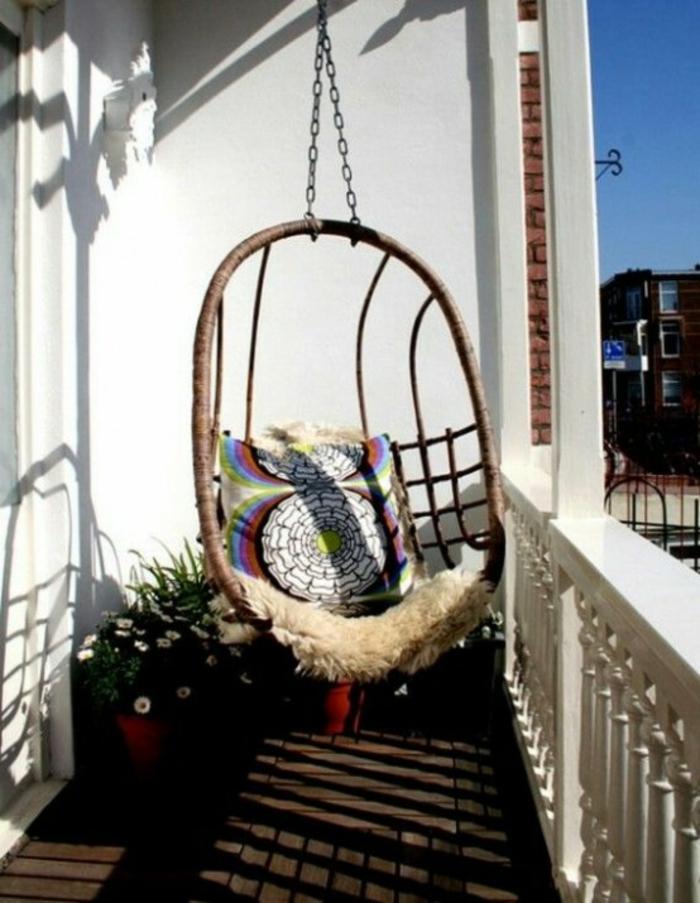 Kleiner Balkon Ideen selber machen diy ideen upcycling ideen farbgestaltung schaukel