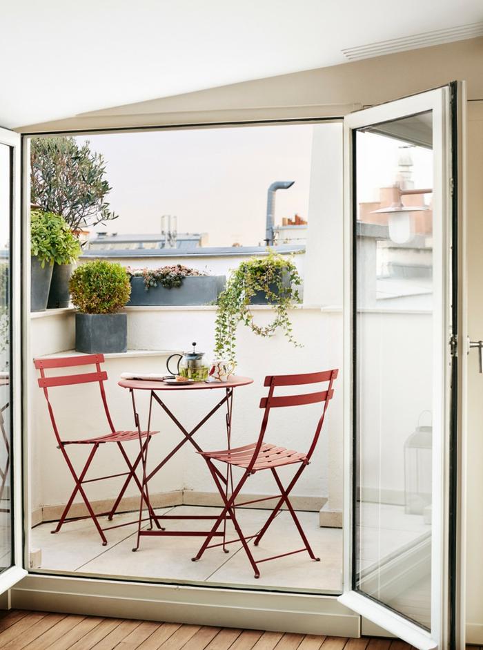 Kleiner Balkon Ideen selber machen diy ideen upcycling ideen farbgestaltung wetterfest
