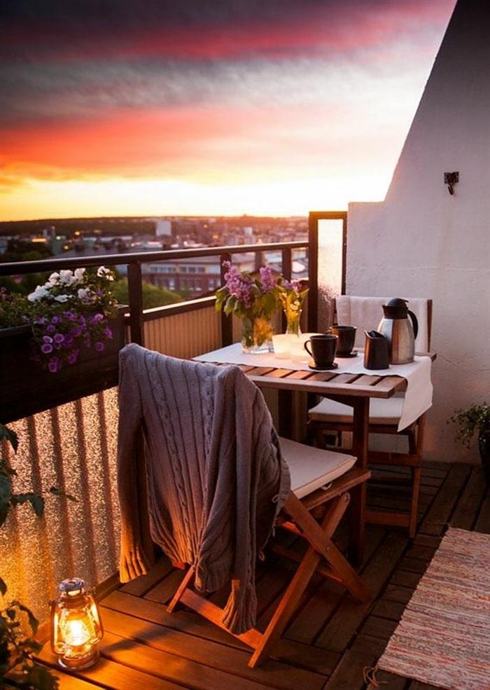 Kleiner Balkon Ideen selber machen diy ideen upcycling ideen romantisch
