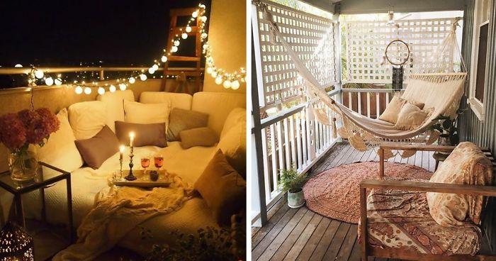 Kleiner Balkon Ideen selber machen diy ideen upcycling ideen romatik