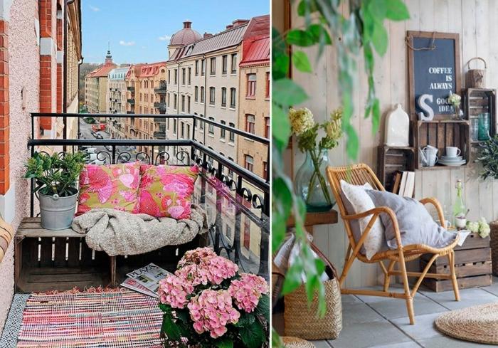 Kleiner Balkon Ideen selber machen diy ideen upcycling ideen sommer