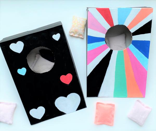Kreative und interaktive Bastelideen gegen Langeweile für Groß und Klein cornhole diy brettspiel