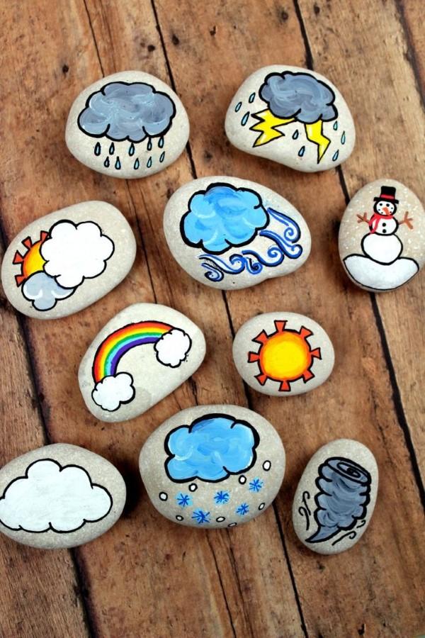 Kreative und interaktive Bastelideen gegen Langeweile für Groß und Klein erzählsteine diy ideen basteln kinder