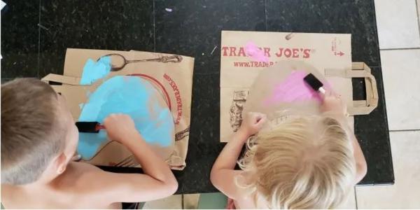 Meerjungfrau Flosse für Kinder basteln Anleitung ohne Nähen