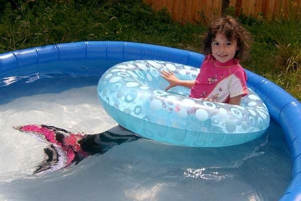 Meerjungfrau Flosse für Kinder basteln aus Stoff