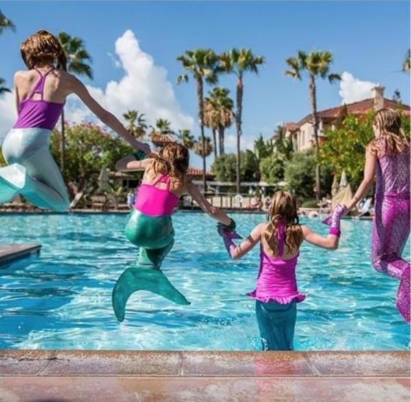 Meerjungfrau Flosse für Kinder selber machen Bastelideen