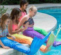 Meerjungfrau Flosse für Kinder basteln – eine coole Bastelidee und 2 verschiedene Anleitungen dazu