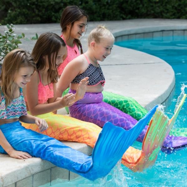 Meerjungfrau Flosse für Kinder selber machen Kinderspaß
