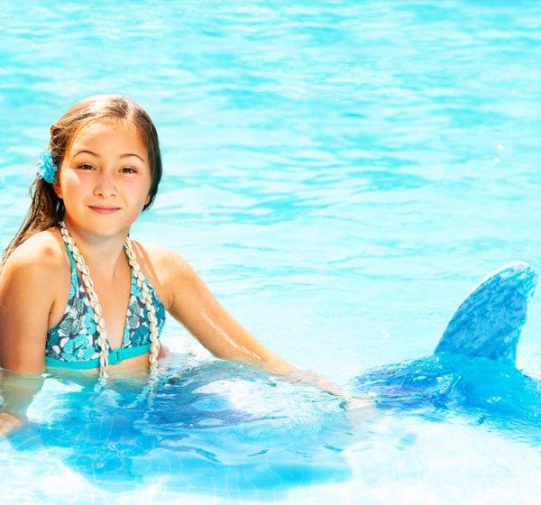 Meerjungfrau Flosse für Kinder selber machen