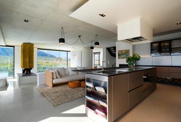 Offene Küche Vor- und Nachteile Kücheninsel Ideen offerner Wohnraum