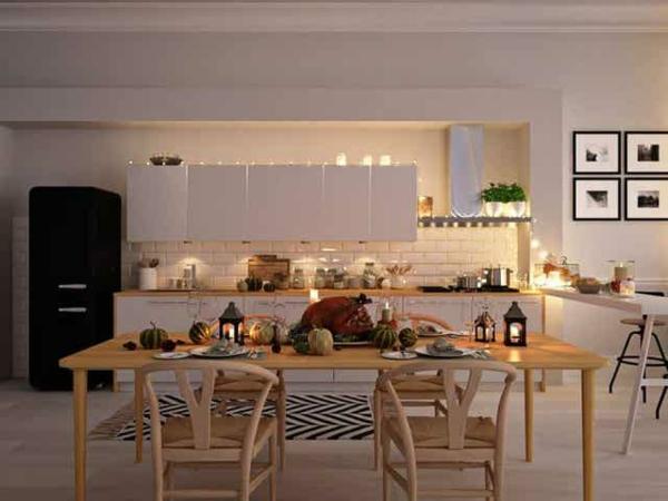 Offene Küche Vor- und Nachteile Kücheninsel Wohnraum Ideen