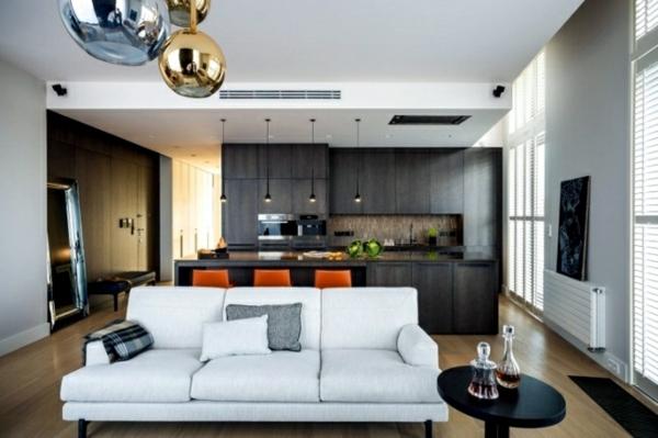Offene Küche Vor- und Nachteile Kücheninsel Wohnzimmer