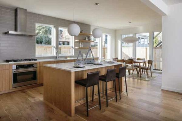 Offene Küche Vor- und Nachteile Kücheninsel offerner Wohnraum