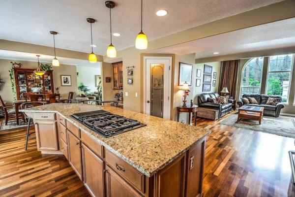 Offene Küche Vor- und Nachteile Wohnküche offerner Wohnraum