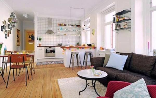 Offene Küche Vor- und Nachteile Wohnküche planen Beispiele