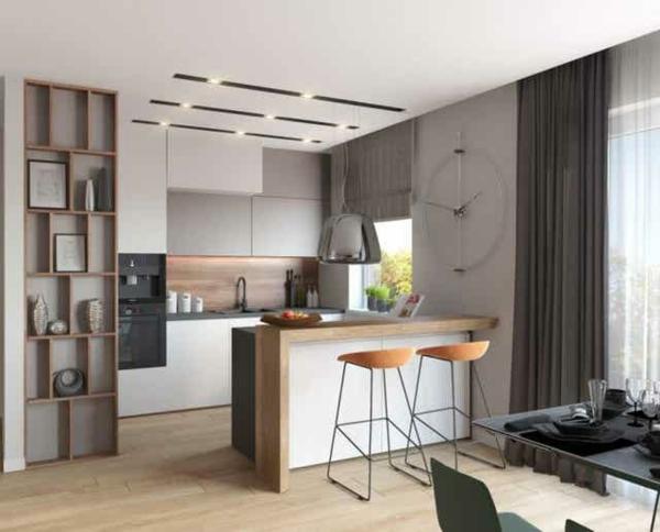 Offene Küche Vor- und Nachteile offener Wohnraum Ideen