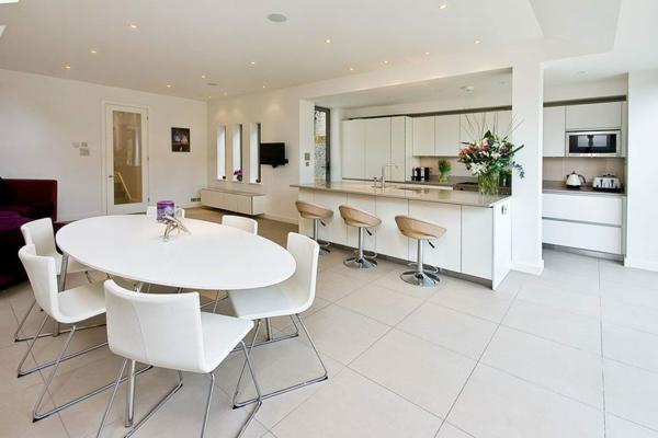 Offene Küche Vorteile Wohnraum gestalten Wohnküche Ideen