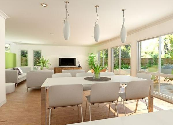 Offene Küche Vorteile Wohnraum hell Wohnküche Ideen