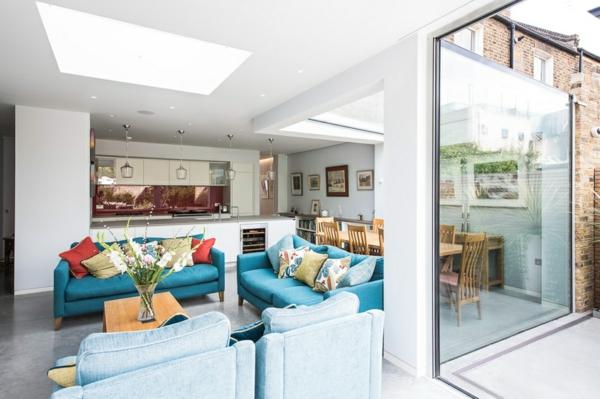 Offene Küche Vorteile Wohnraum modern Wohnküche Ideen