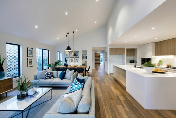 Offene Küche Wohnraum Gestaltung Wohnküche Ideen
