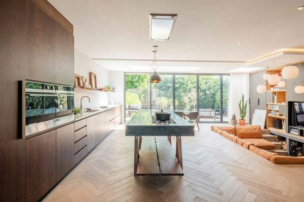 Offene Küche planen Vor- und Nachteile interessante Wohnküche Ideen