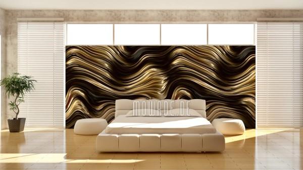 Schöne und moderne 3D Vliestapeten für jedes Interieur und Vorliebe exklusiver wandbelag metalloptik welle tapete