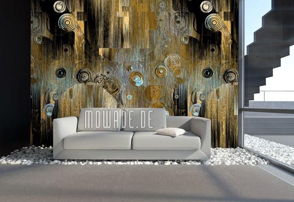 Schöne und moderne 3D Vliestapeten für jedes Interieur und Vorliebe wandmotiv kunst tapete gold türkis schwarz