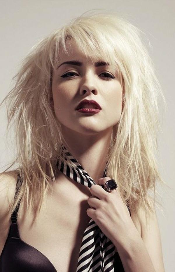 Shag Cut Shag Frisur Trendfrisuren 2021 Blonde-Shag-Haircut