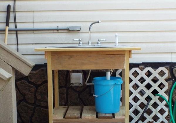 Spüle im Freien 50 Gartenspüle Ideen Außenküche