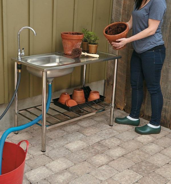 Spüle im Freien 50 Gartenspüle Ideen Gartenarbeit