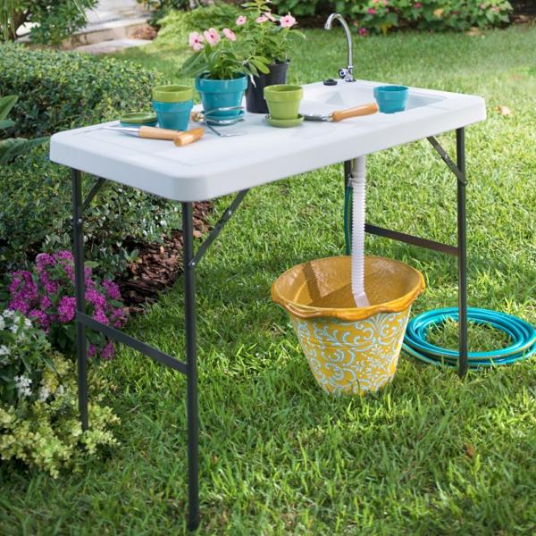 Spüle im Freien 50 Gartenspüle Ideen Gartenzubehör