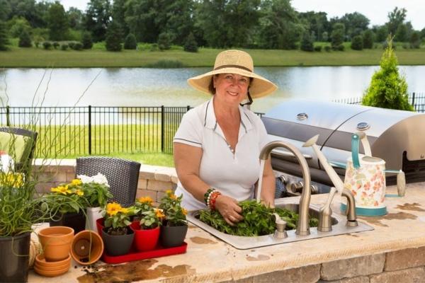 Spüle im Freien 50 Gartenspüle Ideen Kochen im Freien