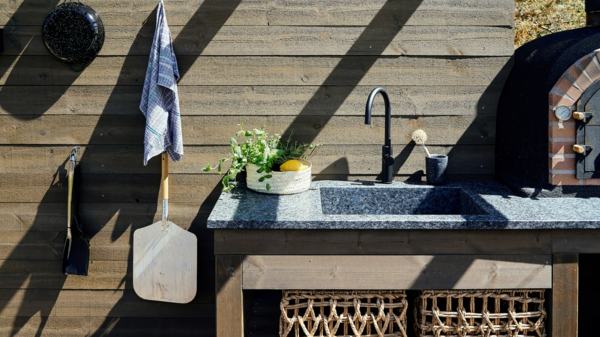 Spüle im Freien 50 Gartenspüle Ideen Sommer