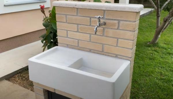 Spüle im Freien 50 Gartenspüle Ideen Waschbecken